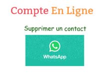 Comment supprimer contact whatsapp