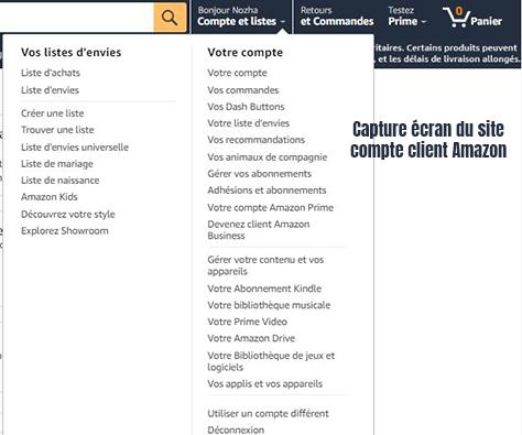 Compte client Amazon