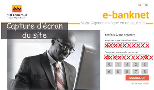 Accès à ebanknet scb