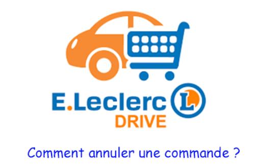 Annuler commande leclerc drive
