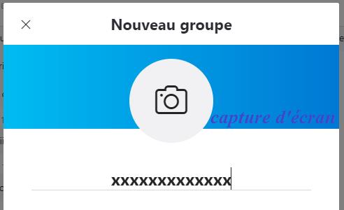 donner un nom à votre nouveau groupe