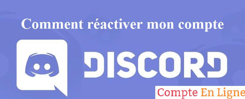 réactiver discord