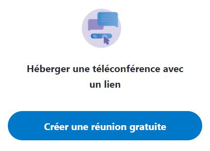 Héberger une téléconférence avec un lien