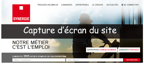 S'inscrire sur synergie.fr
