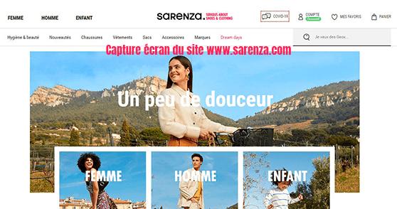 boutique en ligne Sarenza
