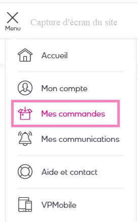 www.veepee.fr rubrique Mes commandes