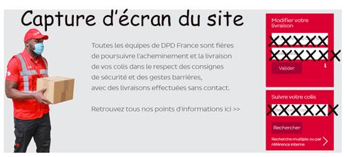 Suivi de colis sur dpd.fr
