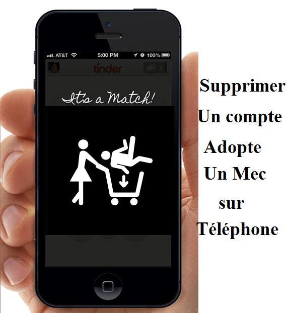supprimer compte adopte un mec sur téléphone mobile