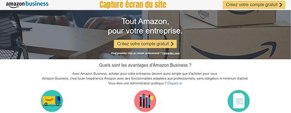 compte amazon business gratuit