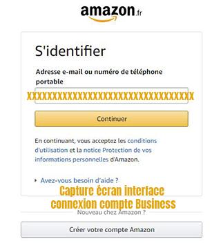 connexion compte amazon business