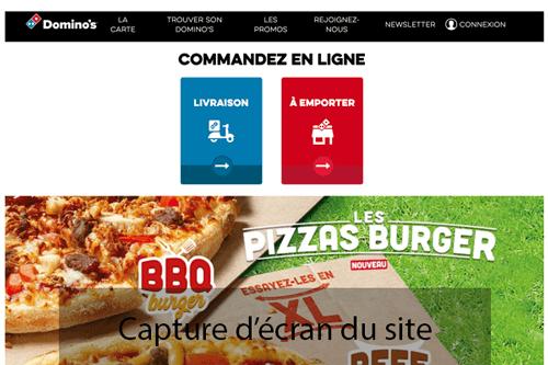 Commander sur dominos.fr