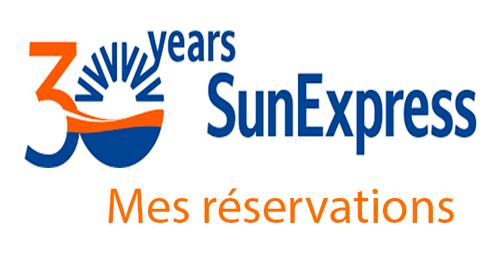 Suivre ma réservation Sunexpress