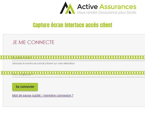 se connecter espace client active assurances