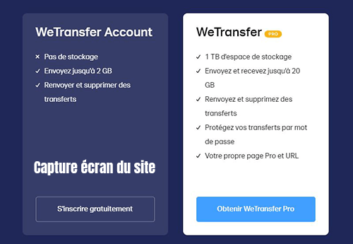 inscription wetransfer gratuite