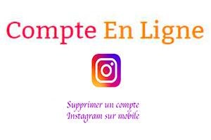 Comment supprimer un compte instagram sans le mot de passe