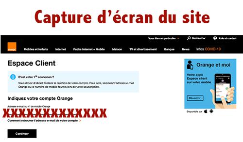 Se rendre sur www.login.orange.fr