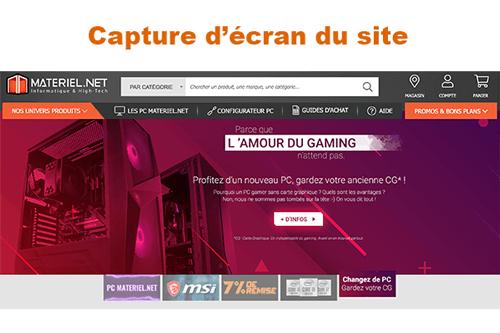 materiel.net service client