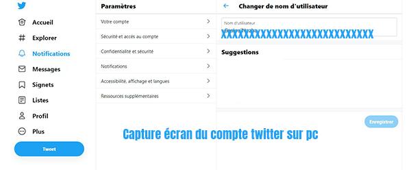 modifier nom utilisateur Twitter