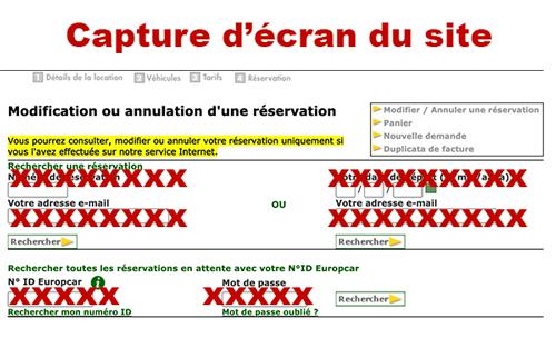 Annulation europcar