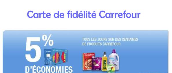 Carte de fidélité Carrefour