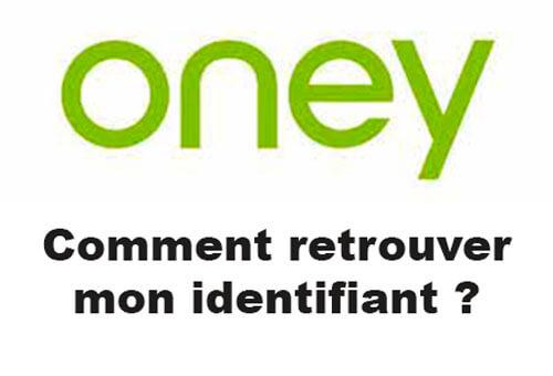 Comment retrouver mon identifiant Oney