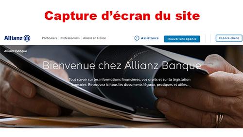 Se connecter sur https://www.allianz.fr/allianz-banque.html