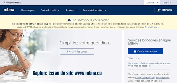 banque mbna canada