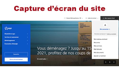 Se connecter sur edf.fr