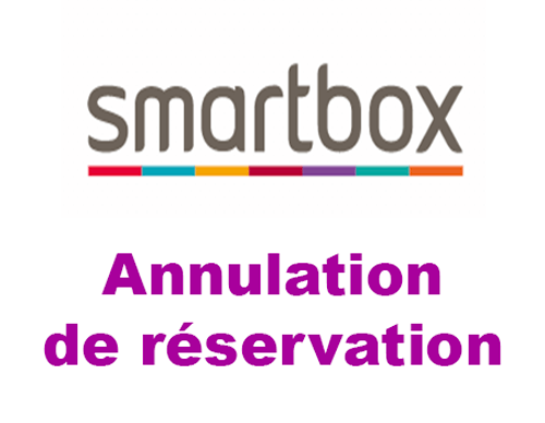 Annuler une réservation smartbox