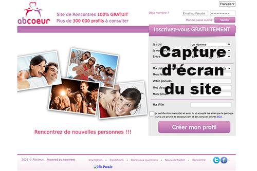 S'inscrire sur abcoeur.com